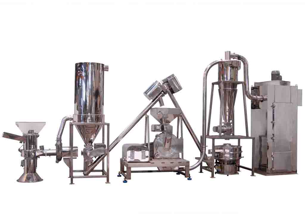 Herbs, Chitin Crushing, Grinding Sieving System